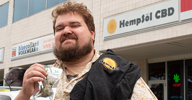 """CITY reporter Gino Fanelli paid $65 for a T-shirt at HempSol and received an eighth of an ounce of Rocket Fuel marijuana as a complimentary """"gift."""""""