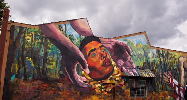 A section of a mural by Argentinian artist Ever, created for the 2013 WALL\THERAPY season. The 2017 festival will take place July 21 through 30.