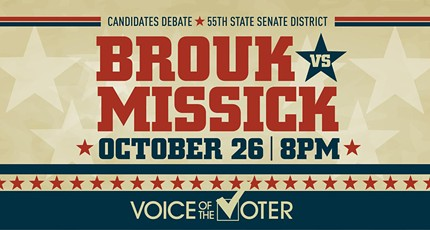 LIVESTREAM: Voice of the Voter Debate - 55th State Senate District