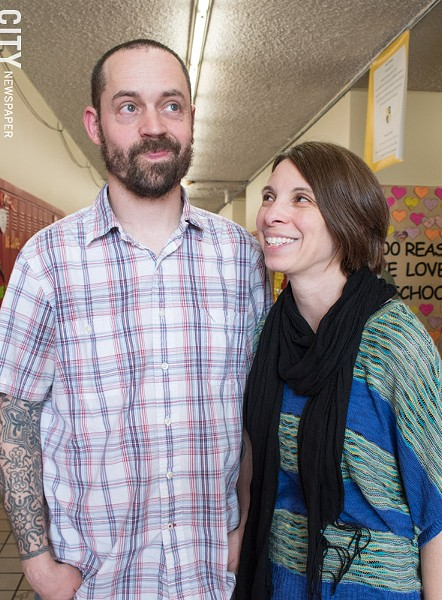 """""""Mr. and Mrs. Sprinkle (pictured) are truly a model of the character attributes that we want to see in our students,"""" RACS Elementary School Principal Deanna Wilkinson says. - PHOTO BY JACOB WALSH"""