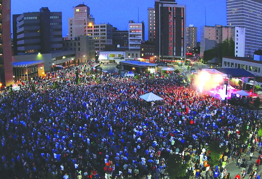 The 2019 CGI Rochester International Jazz Festival features nine nights of concerts on Parcel 5. - PHOTO COURTESY OF PETER PARTS