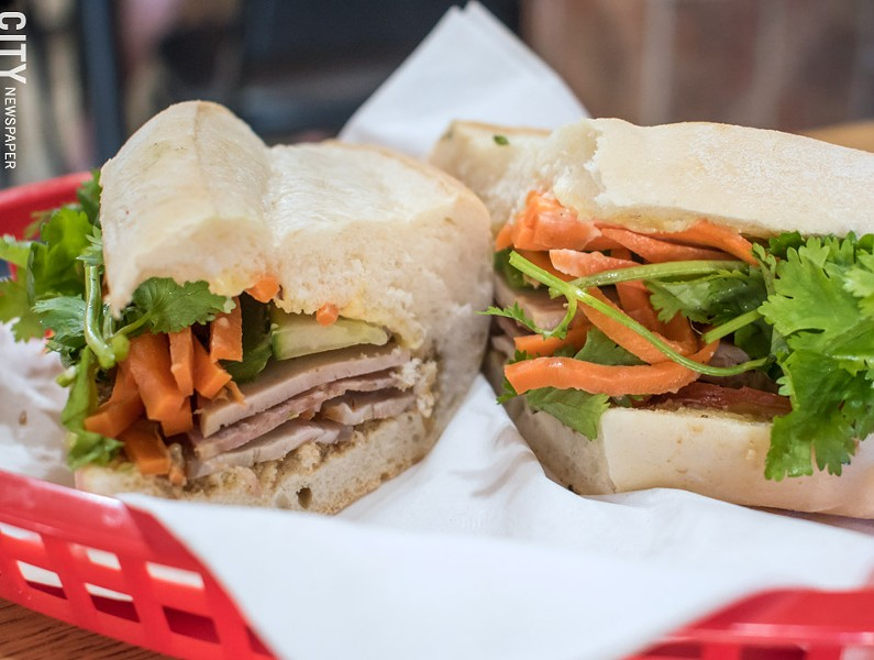 The traditional bánh mì sandwich, made with grilled slices of meat and vegetables. - PHOTO BY JACOB WALSH