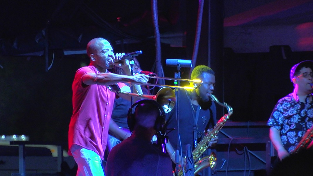 Trombone Shorty & Orleans Avenue closed out the 2019 CGI Rochester International Jazz Festival at Parcel 5 on Saturday, June 28. - PHOTO BY JASON MILTON