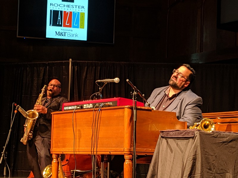 Organist Joey DeFrancesco helped to close out the 2019 CGI Rochester International Jazz Festival with his sets at Temple Building Theater. - PHOTO BY DANIEL J. KUSHNER