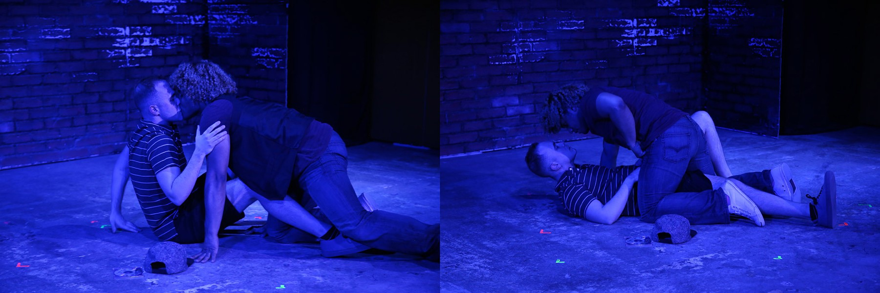 """Grey Noise Theatre Company's """"Dog Sees God"""" featuring Rowan Collins and Hector Manuel. - PHOTO BY ANNETTE DRAGON"""