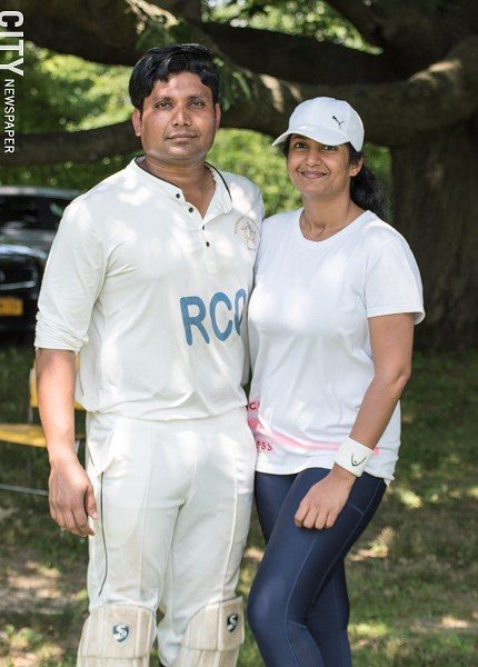 Ramakant Desani and Divya Nerabetla: cricket brought them together. - PHOTO BY JACOB WALSH
