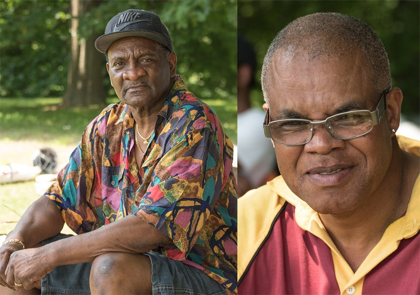 Roderick Wilson, left, and Mark Welch: As immigrants in the 1980's, they helped turn RCC into a cricket powerhouse. - PHOTO BY JACOB WALSH