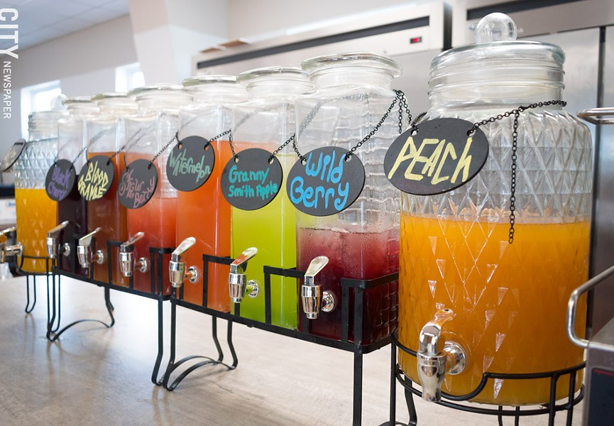 SPIEDIElicious does not sell soda, but instead offers eight house-made juice drinks. - PHOTO BY JACOB WALSH