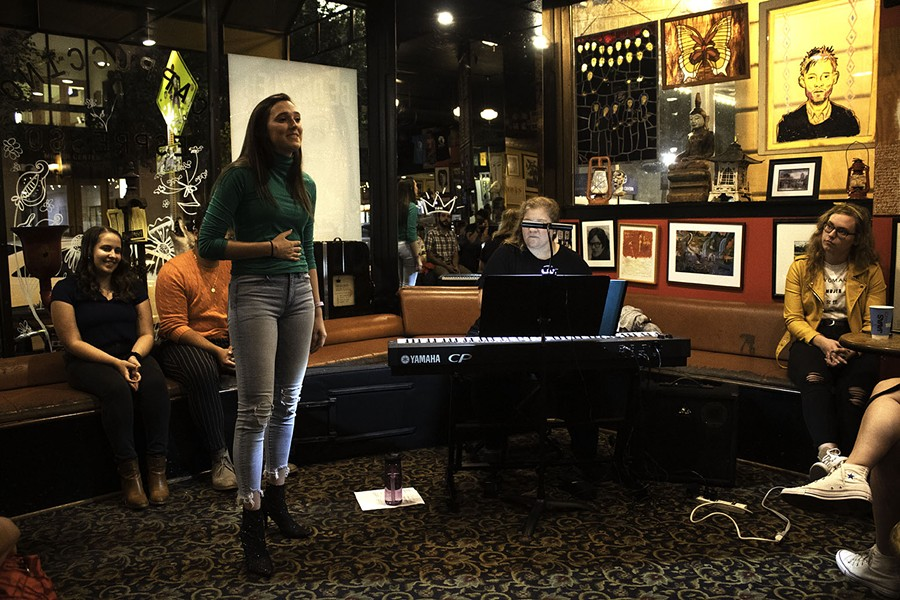 """""""ExMen: Not About Superheroes"""" at Java's cafe. - PHOTO BY ASHLEIGH DESKINS"""