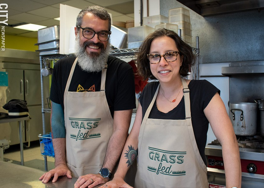 Grass Fed owners Rob Nipe and Nora Rubel. - PHOTO BY RENÉE HEININGER