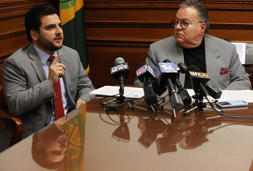 Monroe County Legislature Republican Majority Leader Brian Marianetti and legislature President Joe Carbone. - FILE PHOTO
