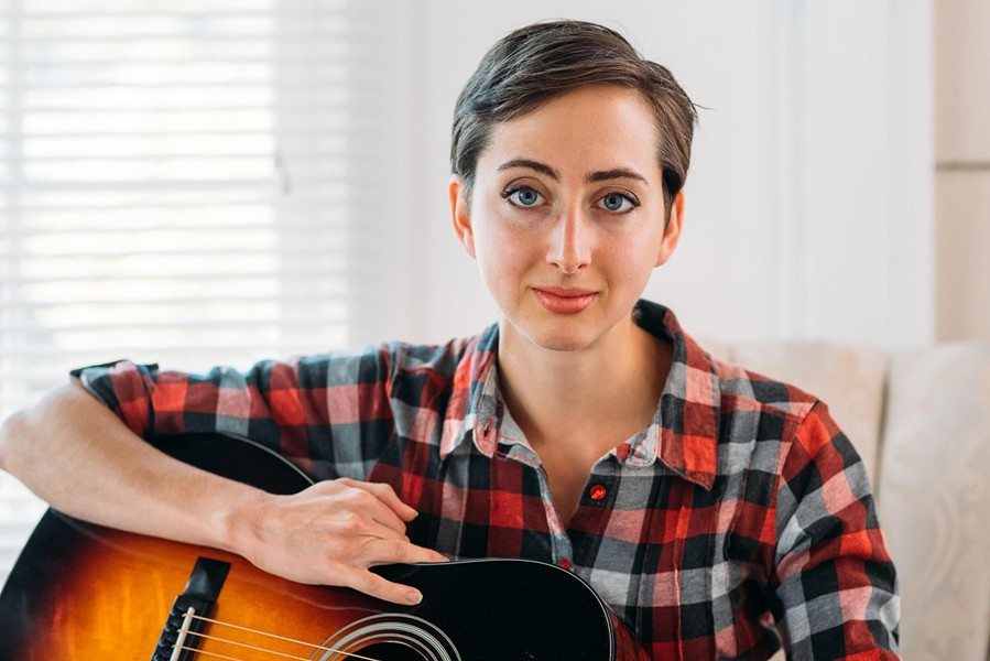 Rochester musician Kelly Izzo Shapiro is working on a collection of songs for her coming daughter during February Album Writing Month. - PHOTO BY TRACI WESTCOTT
