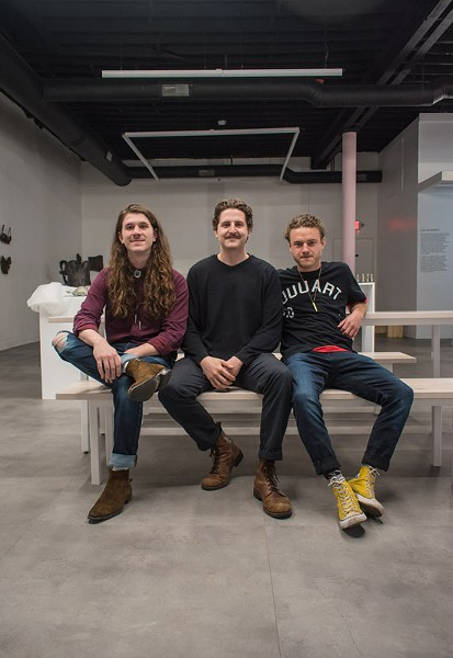 UUU Art Collective's founders in the State Street gallery - FILE PHOTO