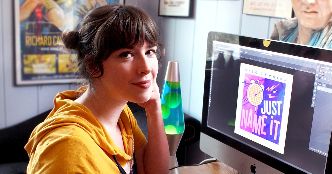 Alison Coté has become the go-to artist for Rochester musicians in need of show posters, album covers, and more. - PHOTO PROVIDED
