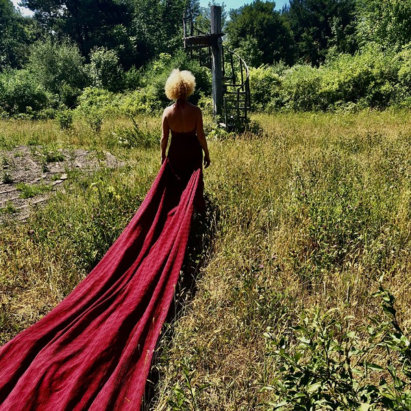 """A still photo from  BIODANCE's """"Red Pilgrimage."""" - PHOTO BY CLAIRE HARTE"""