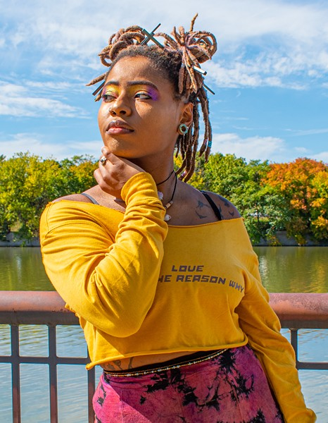 """In a few short years, Sherice Barnes has overcome stage fright and self-doubt to become """"She Rise."""" - PHOTO BY JACOB WALSH"""
