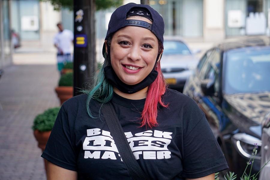 Barbara Rivera of the Rochester City-Wide Tenant Union - PHOTO BY GINO FANELLI