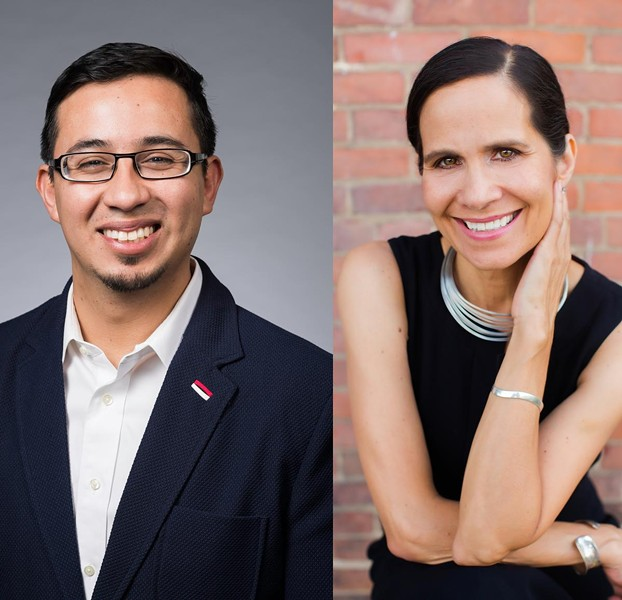 Pablo Miguel Sierra Silva, left, is a history professor at the University or Rochester. Annette Ramos is the executive director of the Rochester Latino Theatre Company. - PHOTOS PROVIDED