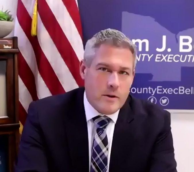 Monroe County Executive Adam Bello during a news briefing on Friday. - FILE PHOTO