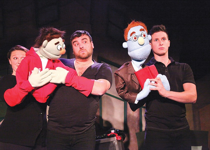 """Avenue Q,"" performed at Geva in 2012. OFC Creations will perform the adult comedy July 24 through August 1. - PHOTO BY ROBERT TUCKER, FOCALPOINT STUDIO"
