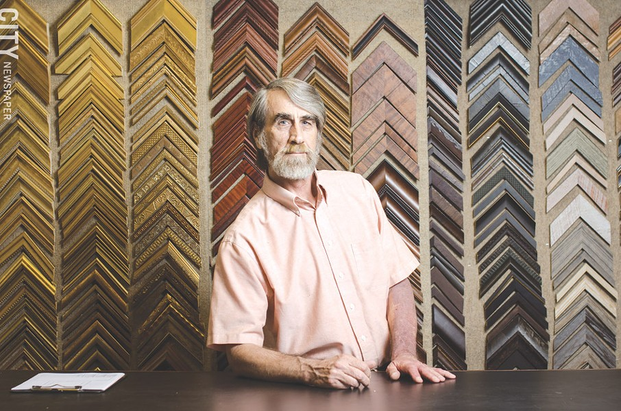 Rod Burleigh, owner of Pitttsford Picture Framing. The company relocated to NOTA from Pittsford, but kept its name. - PHOTO BY MARK CHAMBERLIN