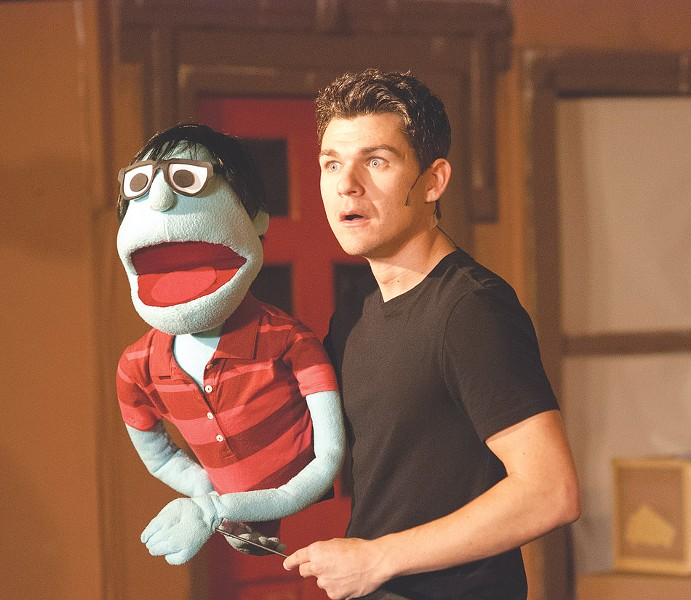 "Jimmy Boorum as Princeton in the OFC Creations production of ""Avenue Q,"" on stage through this weekend at the Kodak Center. - PHOTO BY NICOLAS SAMPER"