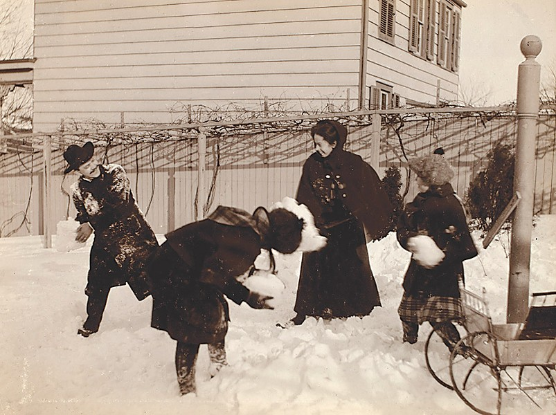 "Jeanette Bernard, ""Group of people - throwing snowballs,"" George Eastman Museum collection - PHOTO PROVIDED"