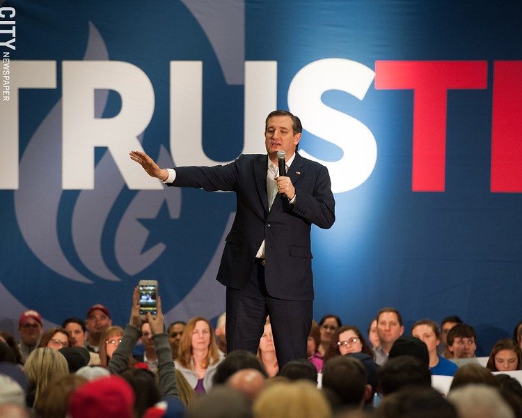 GOP presidential candidate Ted Cruz was in Rochester on Friday. - PHOTO BY JOSH SAUNDERS
