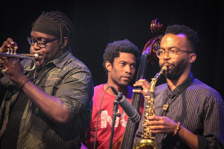 Marquis Hill Blacktet performed at Max of Eastman Place on Monday as part of the 2017 XRIJF. - PHOTO BY FRANK DE BLASE