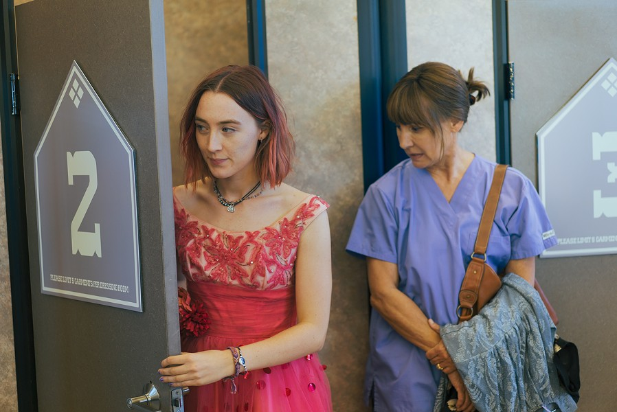 "Saoirse Ronan and Laurie Metcalf in ""Lady Bird."" - PHOTO BY LINDSAY MACIK COURTESY A24"