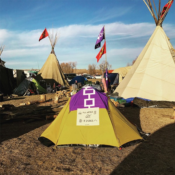 A view of the Standing Rock encampment photographed by Lauren Jimerson. - PROVIDED PHOTO