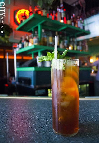 The Pimm's Cup is offered by the glass or pitcher. - PHOTO BY RENÉE HEININGER