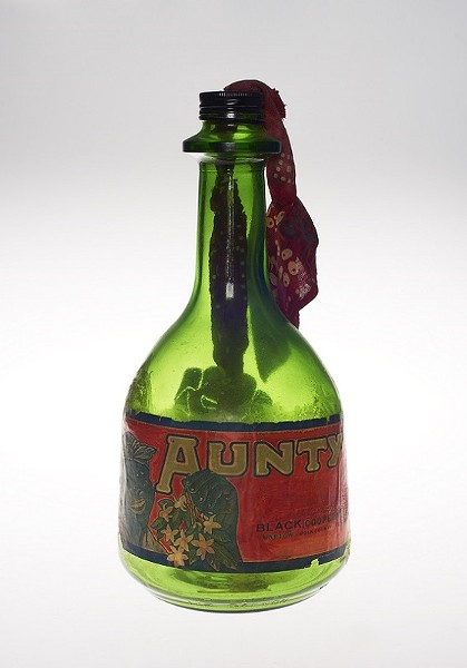 "Betye Saar's 1973 mixed-media assemblage ""Liberation of Aunt Jemima: Cocktail."" - PHOTO COURTESY JONATHAN DORADO / BROOKLYN MUSEUM"