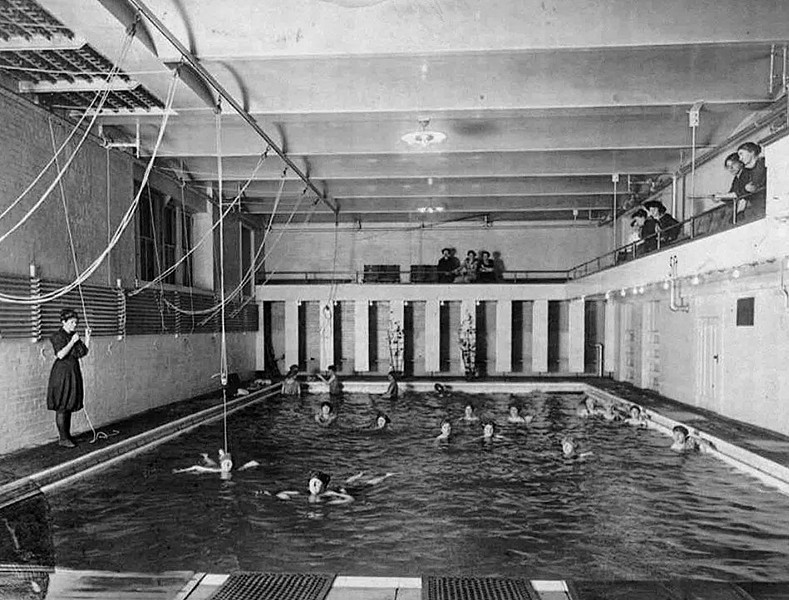 "Among the changes during Carroll's tenure leading the YWCA: elimination of ""money drains"" like the swimming pool, shown here in an early Y photo. - PHOTO PROVIDED"