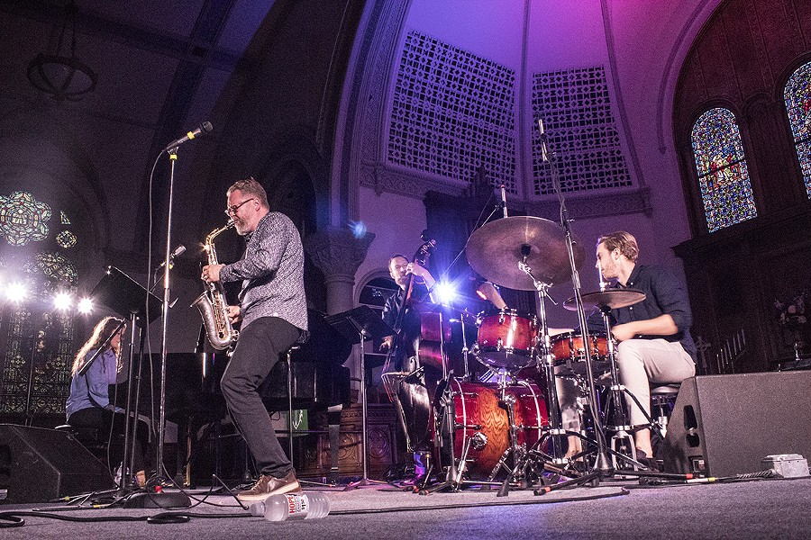 Sigurder Flosason played with his quartet at the Lutheran Church on Saturday night. Ron calls him Iceland's Stan Getz. - PHOTO BY ASHLEIGH DESKINS