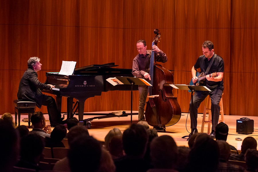 The Gary Versace Trio brought the strange sight of seeing more than just a piano in Hatch Recital Hall. - PHOTO BY JOSH SAUNDERS
