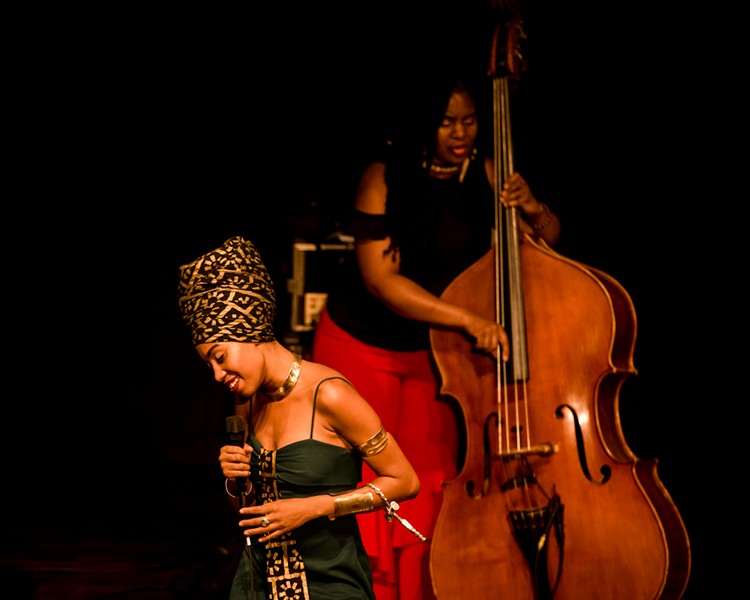 Jazzmeia Horn performed at the Temple Building Theater on Wednesday night. Look for more photos in a slideshow below. - PHOTO BY JOSH SAUNDERS