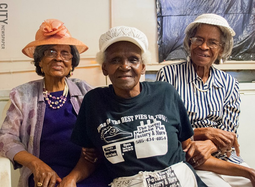Left to right: Gladys Burke, Alberta Jacque, and Bertha Israel. - PHOTO BY JACOB WALSH