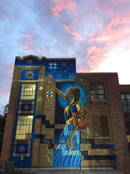 "Nani Chacon's 2017 mural in Kingston, New York, titled ""We've Always Found Our Way Home."" - PHOTO PROVIDED"