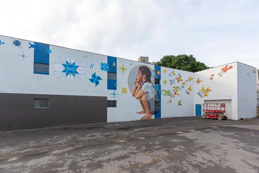 Nani Chacon's mural in the Swillburg neighborhood. - PHOTO BY TED WONG