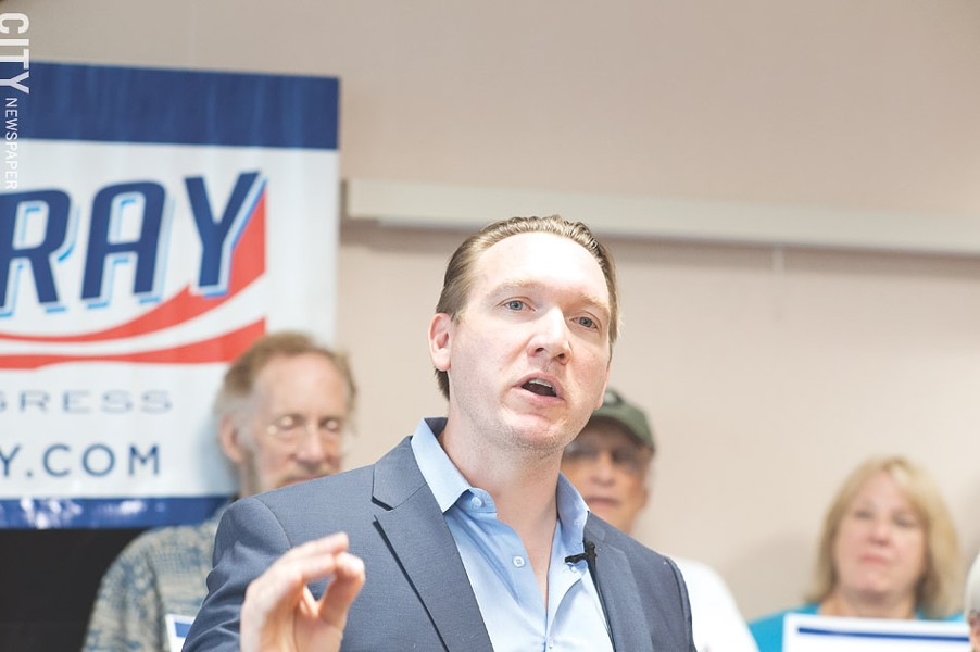 Nate McMurray, the Democratic candidate for the 27th Congressional District seat, is getting more attention after his opponent got hit with insider trading charges and quit the race. - PHOTO BY JEREMY MOULE