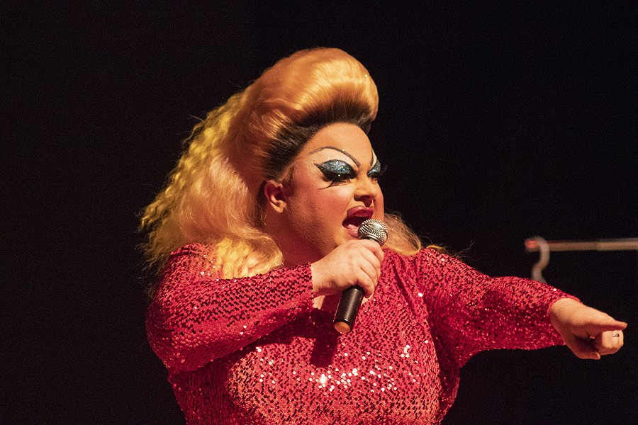 "Ginger Minj in ""Truly Divine."" - PHOTO BY ASHLEIGH DESKINS"