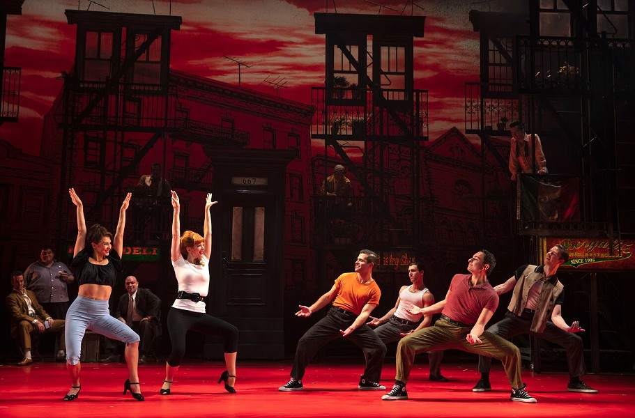 "Cast members of ""A Bronx Tale,"" staged at Rochester Auditorium Theatre through October 21. - PHOTO COURTESY JOAN MARCUS"