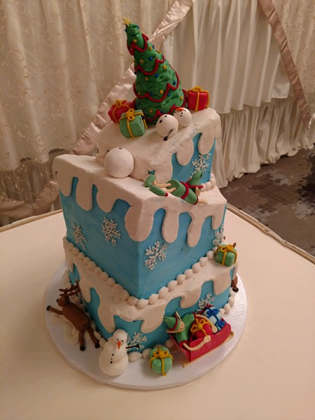 A custom Christmas-themed cake by Get Caked. - PHOTO PROVIDED