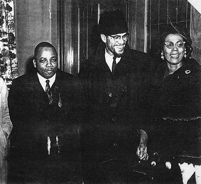 from left: Minister Franklin Florence, Malcolm X, and Connie Mitchell during a visit to Rochester by Malcolm X. - PROVIDED BY CHRIS CHRISTOPHER