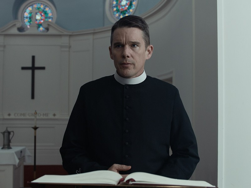 "Ethan Hawke in ""First Reformed."" - PHOTO COURTESY A24"