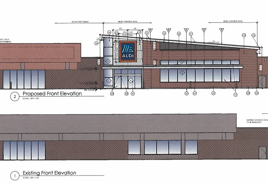 Rendering of proposed Aldi store for North Winton Village. - PROVIDED BY CITY OF ROCHESTER