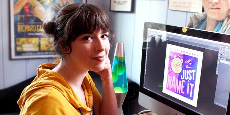 Alison Coté has become the go-to artist for Rochester musicians in need of show posters, album covers, and more.