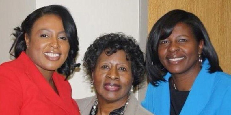 Mayor Lovely Warren with her mother, Rita McClary Warren, center, and sister, Yantise Jenkins.