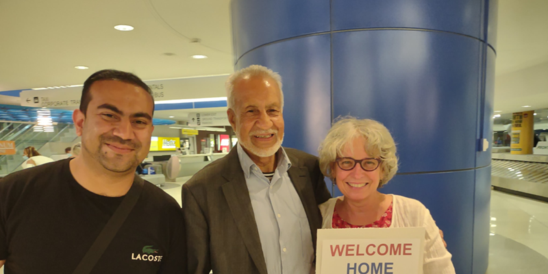 Walid Habibi, Abdul Habibi and Ellen Smith (executive director of Keeping Our Promise Inc.)